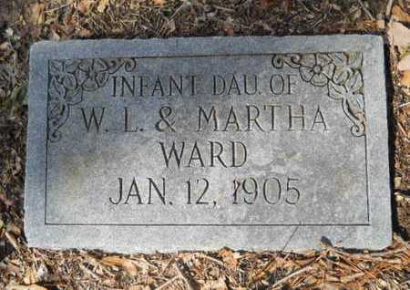 WARD, INFANT DAUGHTER - Union County, Louisiana | INFANT DAUGHTER WARD - Louisiana Gravestone Photos