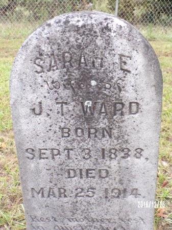 WARD, SARAH ELIZABETH - Union County, Louisiana   SARAH ELIZABETH WARD - Louisiana Gravestone Photos