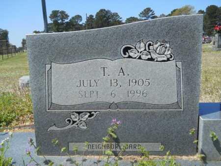 WARD, THOMAS ALVIN (CLOSE UP) - Union County, Louisiana   THOMAS ALVIN (CLOSE UP) WARD - Louisiana Gravestone Photos