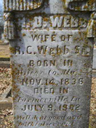 WEBB, H D (CLOSE UP) - Union County, Louisiana | H D (CLOSE UP) WEBB - Louisiana Gravestone Photos