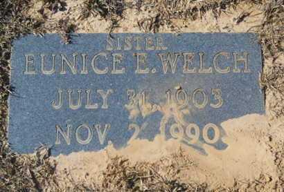 WELCH, EUNICE E - Union County, Louisiana | EUNICE E WELCH - Louisiana Gravestone Photos