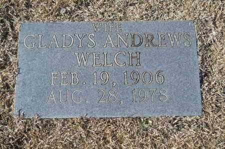 ANDREWS WELCH, GLADYS - Union County, Louisiana | GLADYS ANDREWS WELCH - Louisiana Gravestone Photos