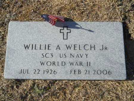 WELCH, WILLIE A, JR  (VETERAN WWII) - Union County, Louisiana | WILLIE A, JR  (VETERAN WWII) WELCH - Louisiana Gravestone Photos
