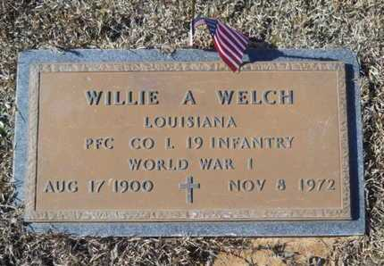 WELCH, WILLIE A (VETERAN WWI) - Union County, Louisiana | WILLIE A (VETERAN WWI) WELCH - Louisiana Gravestone Photos
