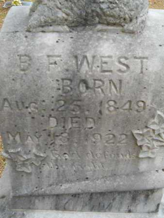 WEST, B F (CLOSE UP) - Union County, Louisiana | B F (CLOSE UP) WEST - Louisiana Gravestone Photos