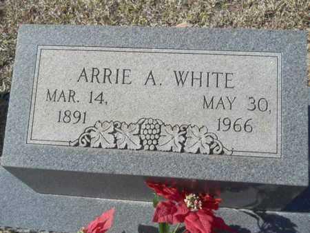 WHITE, ARRIE A - Union County, Louisiana | ARRIE A WHITE - Louisiana Gravestone Photos