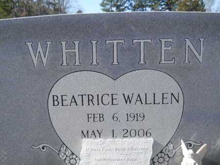 WALLEN WHITTEN, BEATRICE (CLOSE UP) - Union County, Louisiana | BEATRICE (CLOSE UP) WALLEN WHITTEN - Louisiana Gravestone Photos