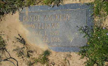 WILLIAMS, BOYDE ZACKERY - Union County, Louisiana | BOYDE ZACKERY WILLIAMS - Louisiana Gravestone Photos