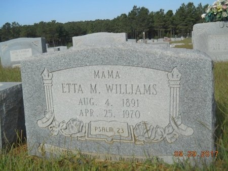 WILLIAMS, ETTA MAY - Union County, Louisiana | ETTA MAY WILLIAMS - Louisiana Gravestone Photos