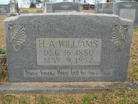 WILLIAMS, H A - Union County, Louisiana   H A WILLIAMS - Louisiana Gravestone Photos