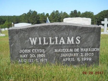 WILLIAMS, JOHN CLYDE - Union County, Louisiana | JOHN CLYDE WILLIAMS - Louisiana Gravestone Photos