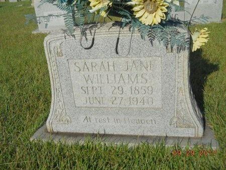 WILLIAMS, SARAH JANE - Union County, Louisiana   SARAH JANE WILLIAMS - Louisiana Gravestone Photos