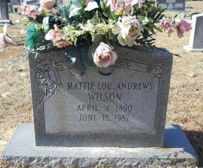 WILSON, MATTIE LOU - Union County, Louisiana | MATTIE LOU WILSON - Louisiana Gravestone Photos