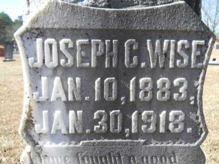 WISE, JOSEPH C (CLOSE UP) - Union County, Louisiana   JOSEPH C (CLOSE UP) WISE - Louisiana Gravestone Photos