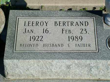 BERTRAND, LEEROY - Vermilion County, Louisiana | LEEROY BERTRAND - Louisiana Gravestone Photos