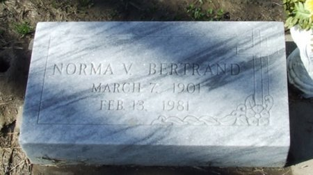 BERTRAND, NORMA V - Vermilion County, Louisiana | NORMA V BERTRAND - Louisiana Gravestone Photos