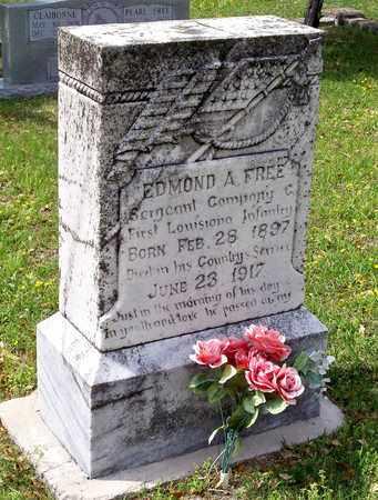 FREE, EDMOND A (VETERAN WWI) - Vernon County, Louisiana | EDMOND A (VETERAN WWI) FREE - Louisiana Gravestone Photos