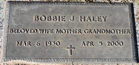 HALEY, BOBBIE J - Vernon County, Louisiana | BOBBIE J HALEY - Louisiana Gravestone Photos