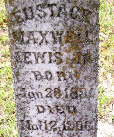 LEWIS, EUSTACE  MAXWELL, JR (CLOSEUP) - Vernon County, Louisiana | EUSTACE  MAXWELL, JR (CLOSEUP) LEWIS - Louisiana Gravestone Photos
