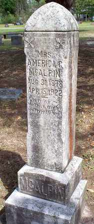 MCALPIN, AMERICA , MRS - Vernon County, Louisiana | AMERICA , MRS MCALPIN - Louisiana Gravestone Photos