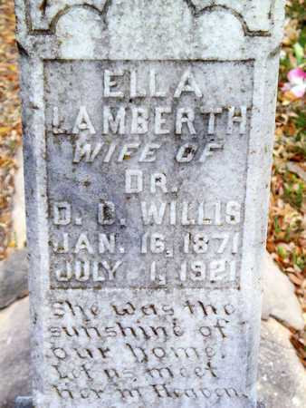 LAMBERTH WILLIS, ELLA (CLOSEUP) - Vernon County, Louisiana | ELLA (CLOSEUP) LAMBERTH WILLIS - Louisiana Gravestone Photos