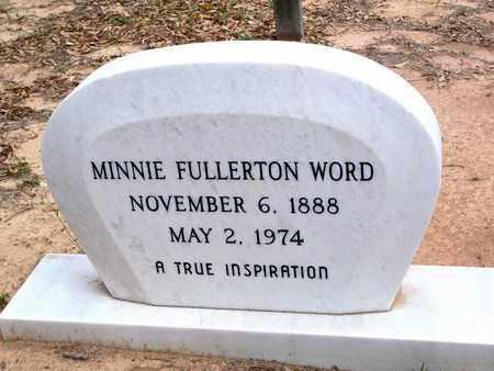 WORD, MINNIE - Vernon County, Louisiana | MINNIE WORD - Louisiana Gravestone Photos