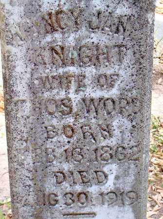 KNIGHT WORD, NANCY JANE (CLOSEUP) - Vernon County, Louisiana   NANCY JANE (CLOSEUP) KNIGHT WORD - Louisiana Gravestone Photos