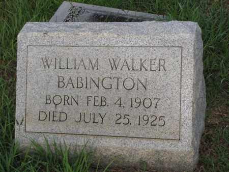 BABINGTON, WILLIAM WALKER (VETERAN) - Washington County, Louisiana   WILLIAM WALKER (VETERAN) BABINGTON - Louisiana Gravestone Photos