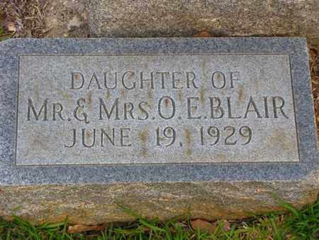 BLAIR, INFANT DAUGHTER - Washington County, Louisiana | INFANT DAUGHTER BLAIR - Louisiana Gravestone Photos