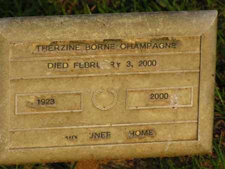BORNE CHAMPAGNE, THERZINE - Washington County, Louisiana | THERZINE BORNE CHAMPAGNE - Louisiana Gravestone Photos