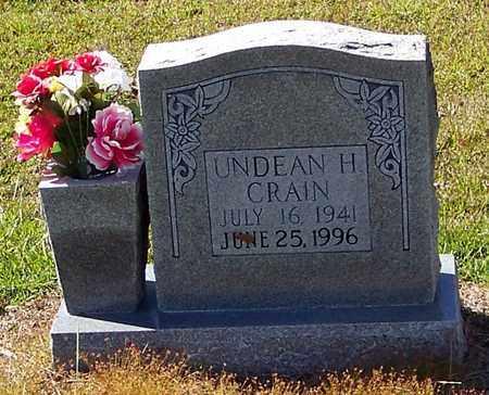 CRAIN, UNDEAN H - Washington County, Louisiana   UNDEAN H CRAIN - Louisiana Gravestone Photos