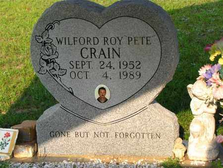 "CRAIN, WILFORD ROY ""PETE"" - Washington County, Louisiana | WILFORD ROY ""PETE"" CRAIN - Louisiana Gravestone Photos"