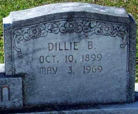 BURCH DILLON (CLOSE UP), DILLE B - Washington County, Louisiana   DILLE B BURCH DILLON (CLOSE UP) - Louisiana Gravestone Photos