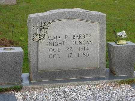 DUNCAN, ALMA P BARBER - Washington County, Louisiana   ALMA P BARBER DUNCAN - Louisiana Gravestone Photos