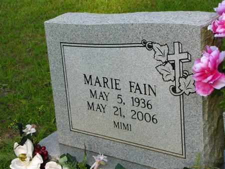 FAIN, MARIE - Washington County, Louisiana | MARIE FAIN - Louisiana Gravestone Photos