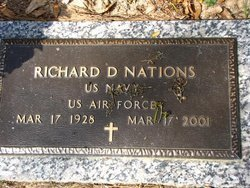 NATIONS, RICHARD D (VETERAN) - Washington County, Louisiana | RICHARD D (VETERAN) NATIONS - Louisiana Gravestone Photos
