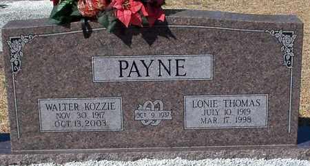THOMAS PAYNE, LONIE - Washington County, Louisiana | LONIE THOMAS PAYNE - Louisiana Gravestone Photos
