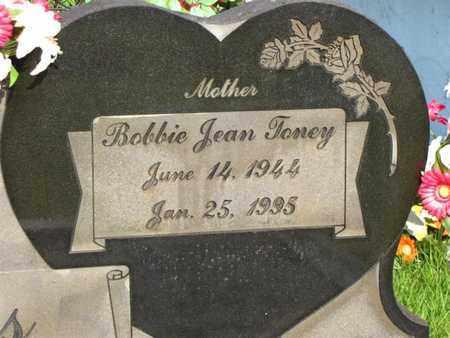 TONEY SPEARS (CLOSE UP), BOBBIE JEAN - Washington County, Louisiana | BOBBIE JEAN TONEY SPEARS (CLOSE UP) - Louisiana Gravestone Photos