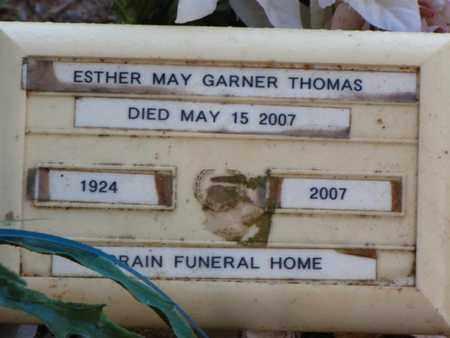 GARNER THOMAS, ESTHER MAY - Washington County, Louisiana | ESTHER MAY GARNER THOMAS - Louisiana Gravestone Photos