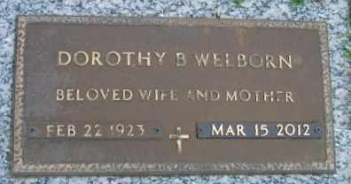 WELBORN, DOROTHY B - Washington County, Louisiana   DOROTHY B WELBORN - Louisiana Gravestone Photos