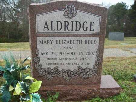 REED ALDRIDGE, MARY ELIZABETH - Webster County, Louisiana | MARY ELIZABETH REED ALDRIDGE - Louisiana Gravestone Photos