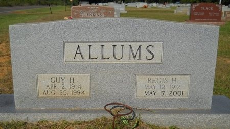 ALLUMS, REGIS H - Webster County, Louisiana   REGIS H ALLUMS - Louisiana Gravestone Photos
