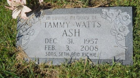 WATTS ASH, TAMMY - Webster County, Louisiana | TAMMY WATTS ASH - Louisiana Gravestone Photos