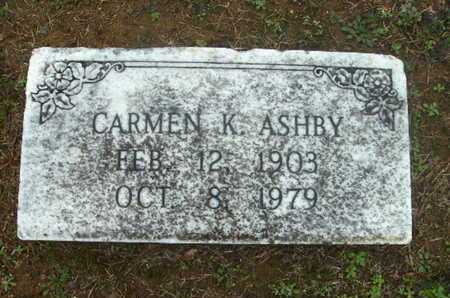 ASHBY, CARMEN - Webster County, Louisiana | CARMEN ASHBY - Louisiana Gravestone Photos