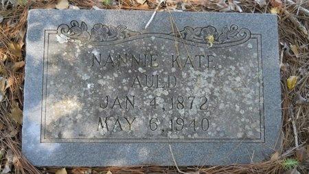 AULD, NANNIE KATE - Webster County, Louisiana   NANNIE KATE AULD - Louisiana Gravestone Photos