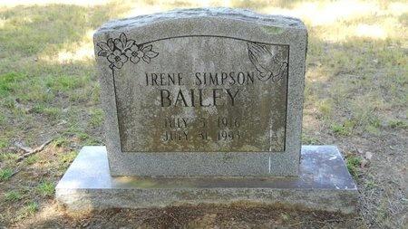 BAILEY, IRENE - Webster County, Louisiana | IRENE BAILEY - Louisiana Gravestone Photos