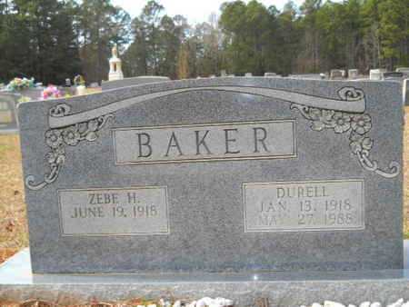 BAKER, ZEBE H - Webster County, Louisiana | ZEBE H BAKER - Louisiana Gravestone Photos