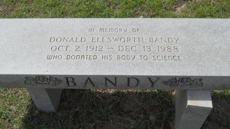BANDY, DONALD ELLSWORTH - Webster County, Louisiana   DONALD ELLSWORTH BANDY - Louisiana Gravestone Photos
