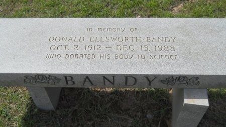 BANDY, DONALD ELLSWORTH - Webster County, Louisiana | DONALD ELLSWORTH BANDY - Louisiana Gravestone Photos