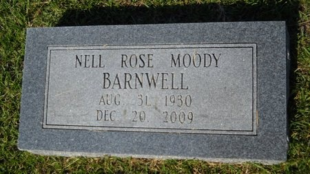 MOODY BARNWELL, NELL ROSE - Webster County, Louisiana | NELL ROSE MOODY BARNWELL - Louisiana Gravestone Photos